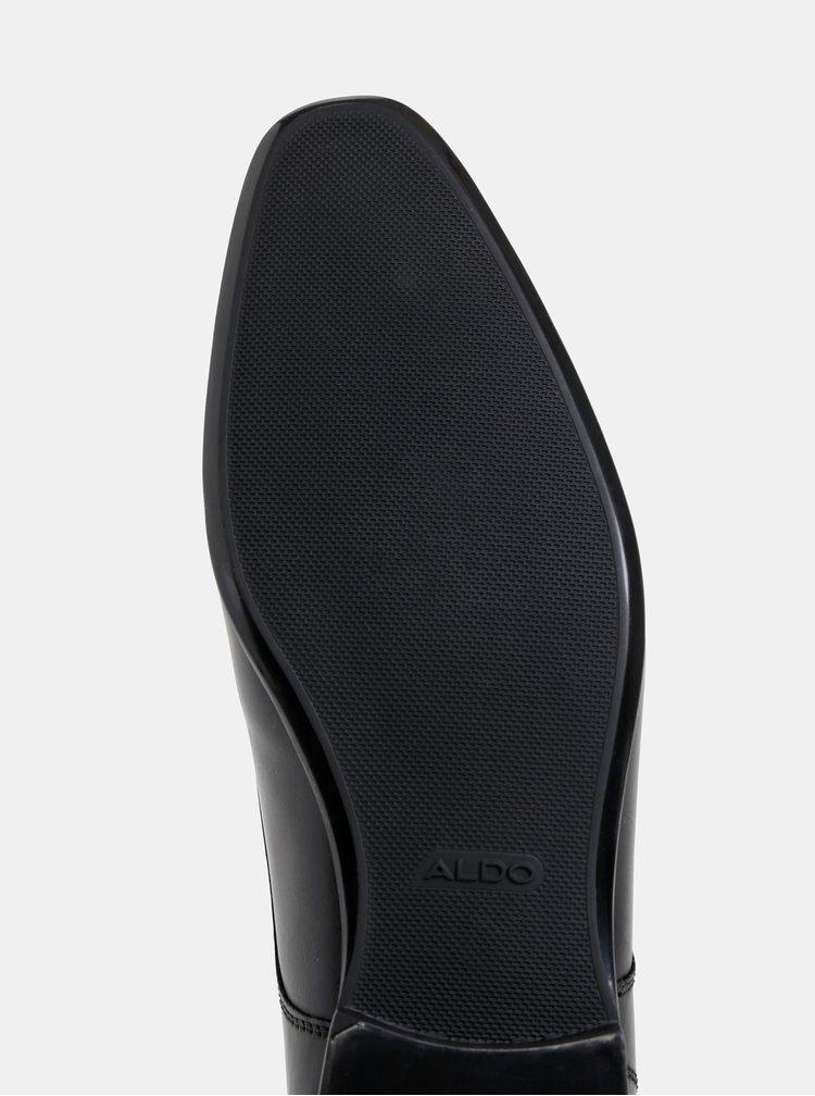 Černé pánské kožené polobotky ALDO Dryma