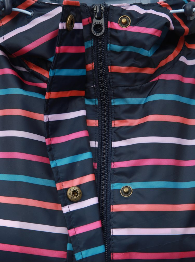 Jacheta parka albastru inchis in dungi lejera impermeabila Tom Joule Golightly