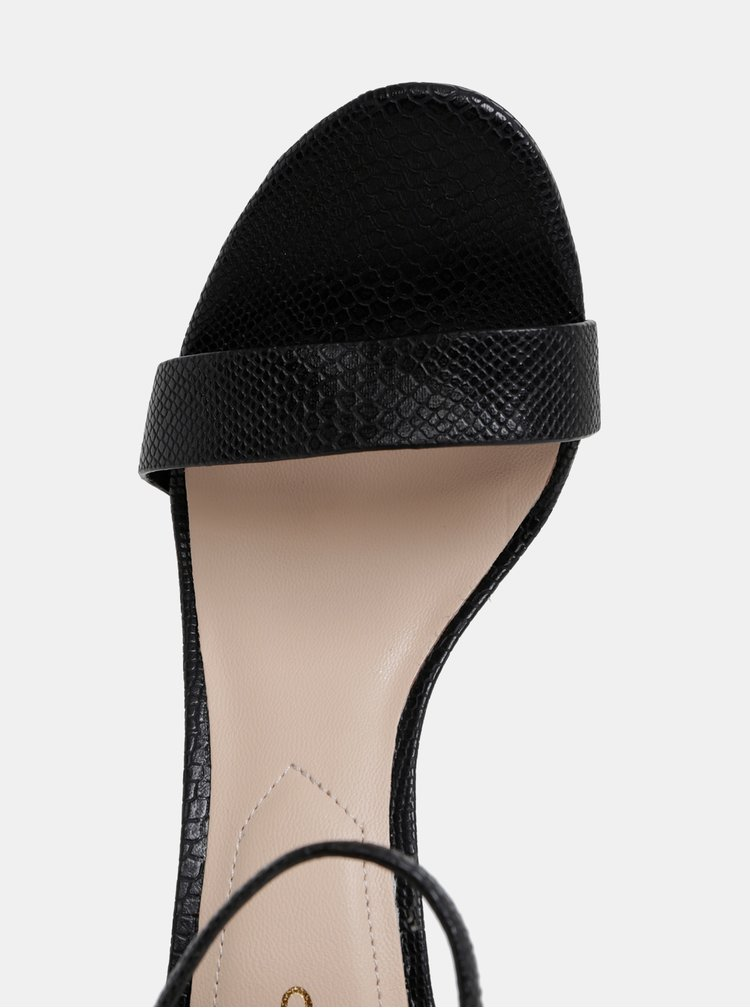 Černé sandálky s hadím vzorem ALDO Piliria