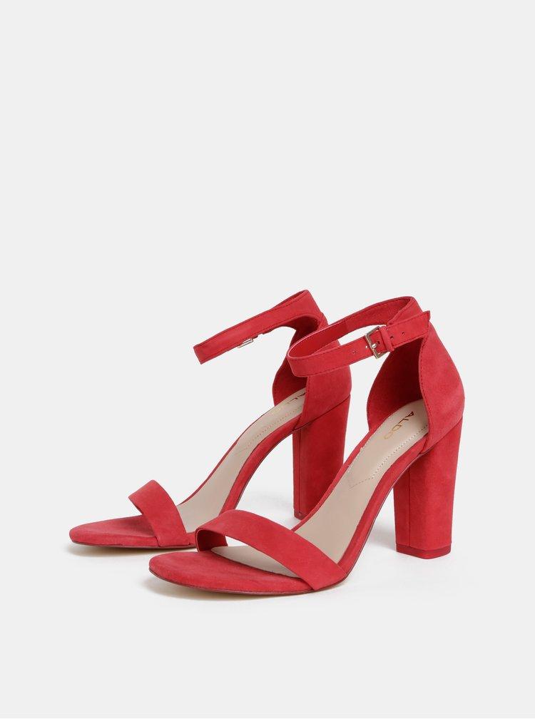Červené semišové sandálky ALDO