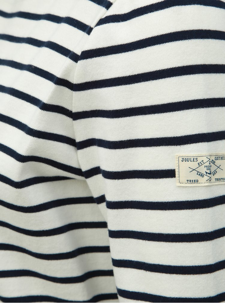 Tricou crem in dungi Tom Joule Harbour