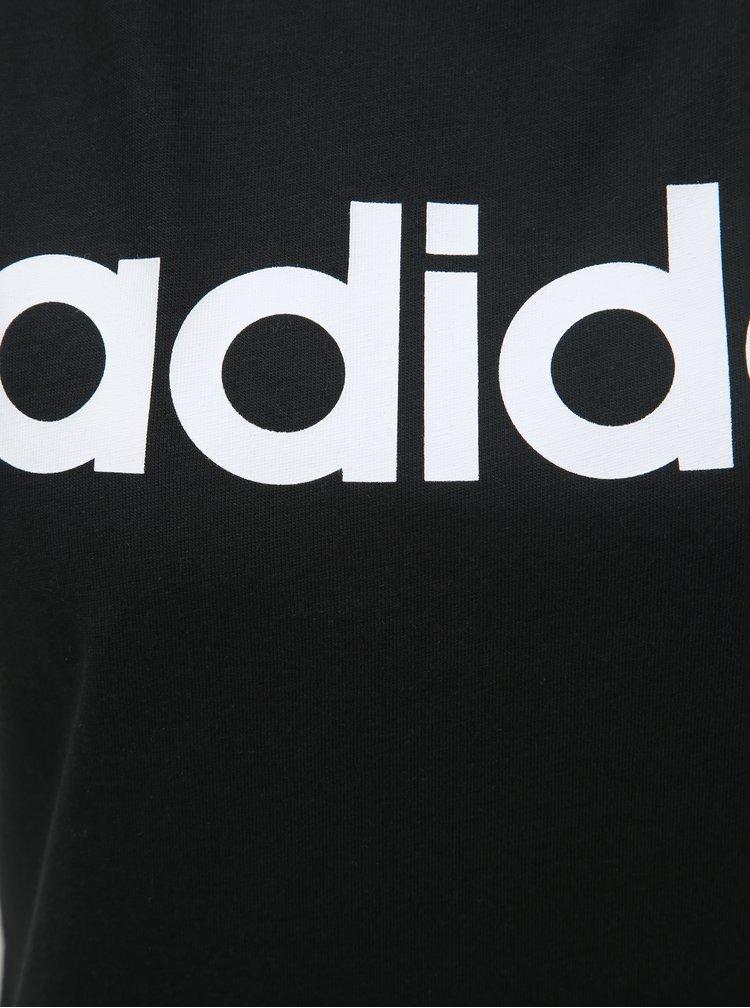 Černé dámské tílko s potiskem adidas CORE