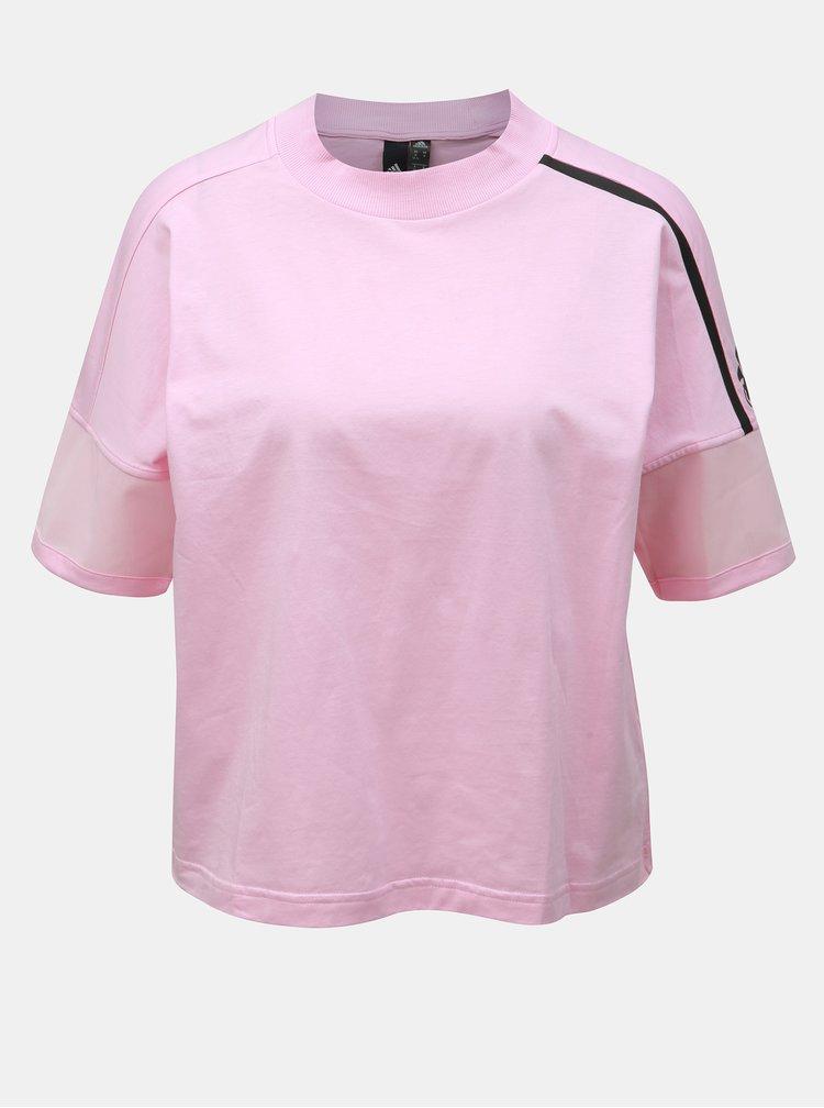 Ružové dámske tričko adidas Performance Trupnk