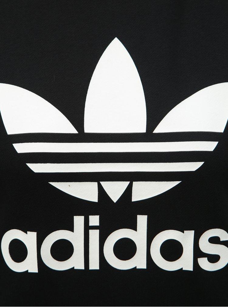 Čierna dámska mikina s potlačou adidas Originals
