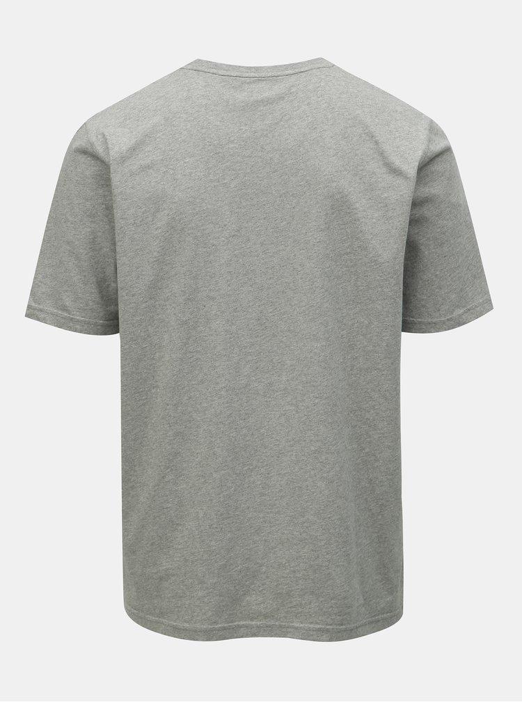 Šedé pánské tričko s kapsou Maloja Flüs