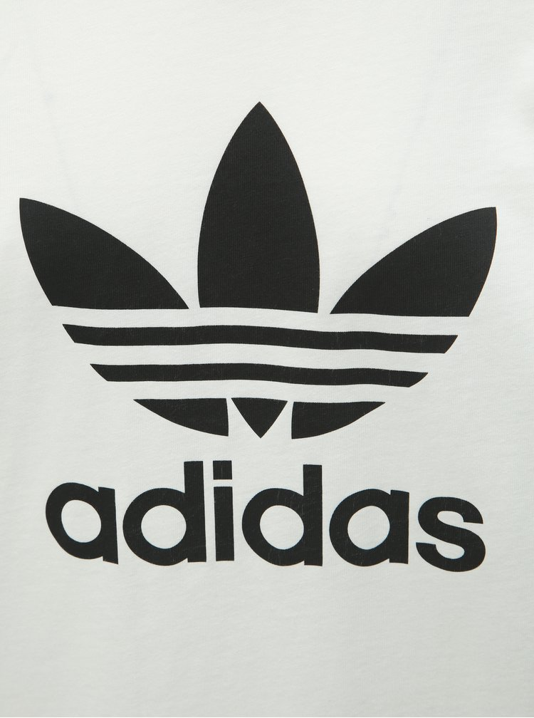 Tricou barbatesc alb cu imprimeu adidas Originals Trefoil