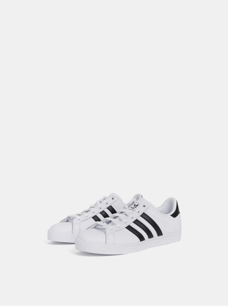Biele kožené tenisky adidas Originals Coast Star