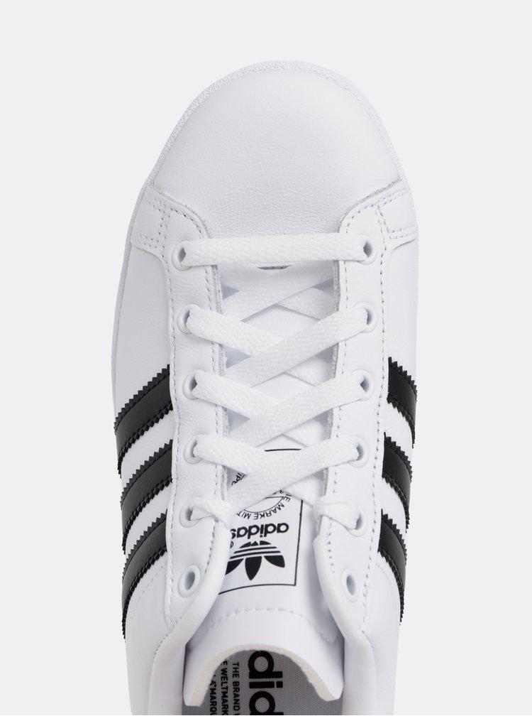 Biele dámske kožené tenisky adidas Originals Coast Star