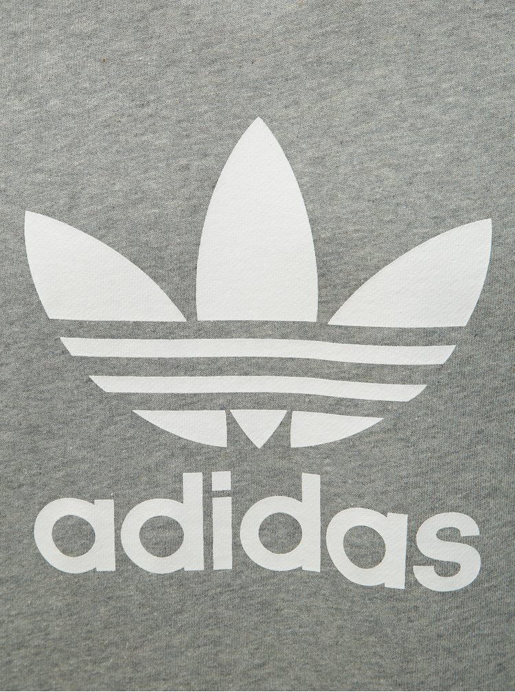 Hanorac barbatesc gri melanj adidas Originals Trefoil
