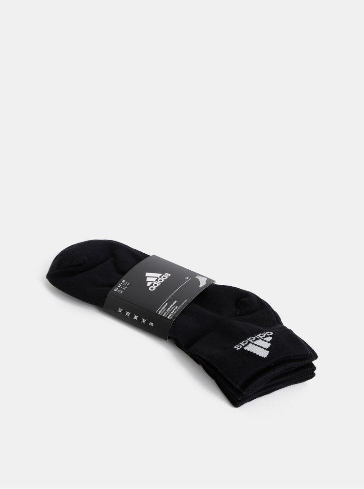 Sada tří párů černých pánských ponožek adidas Performance