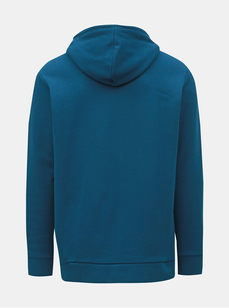 Modrá pánská mikina s kapucí adidas Originals Trefoil