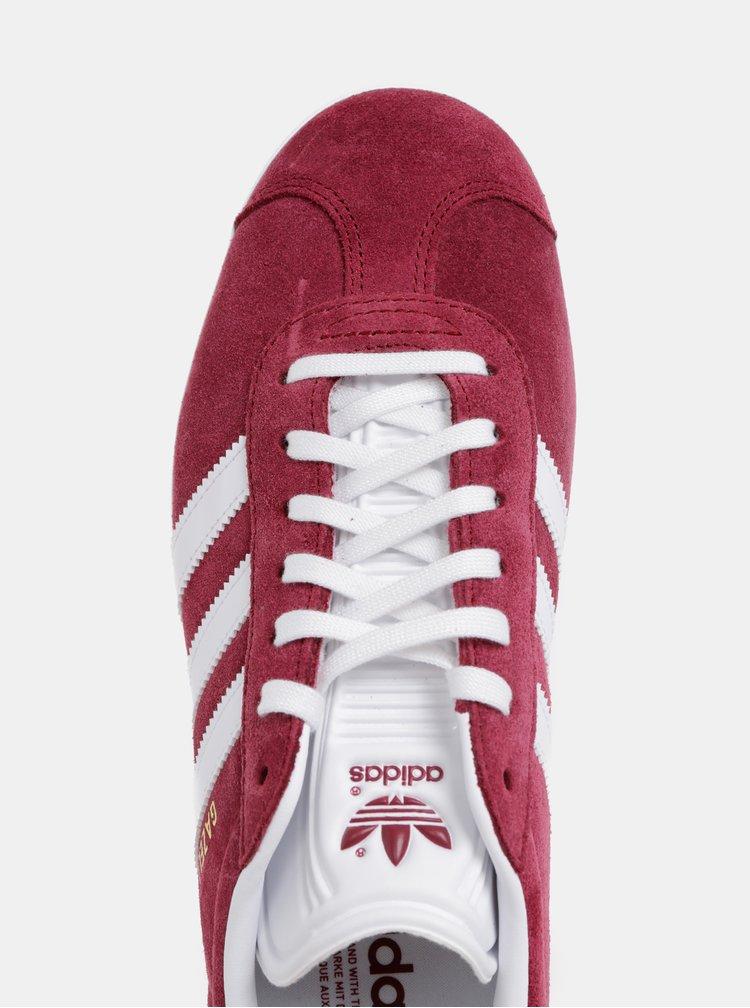 Adidasi barbatesti bordo din piele intoarsa adidas Originals Gazelle