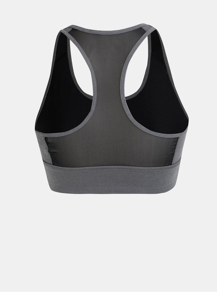 Šedá dámská sportovní podprsenka s průsvitnou zadní částí adidas CORE Design 2 Move