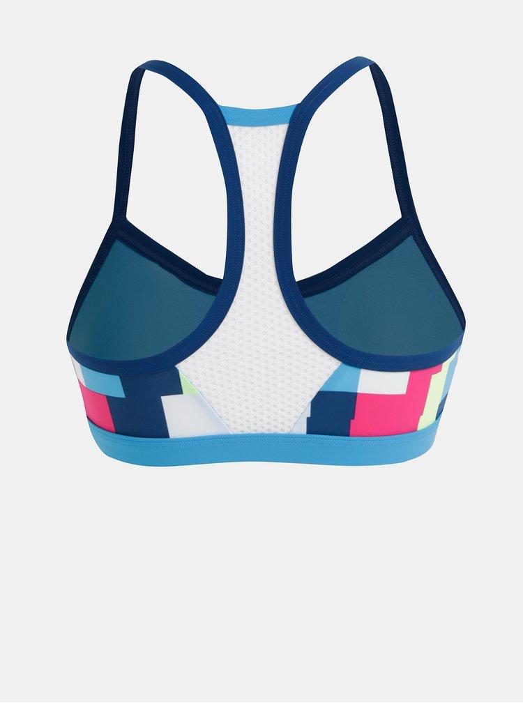 Modrý dámský vzorovaný horní díl plavek adidas Performance All Me