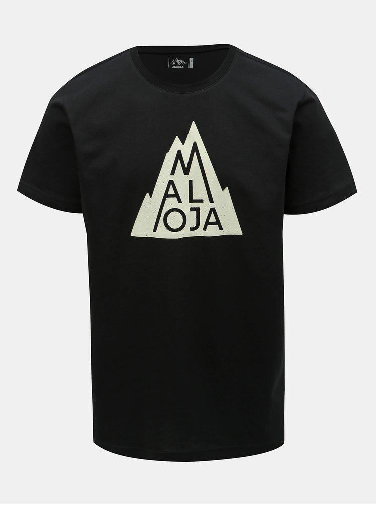 Čierne pánske tričko s potlačou Maloja Christian