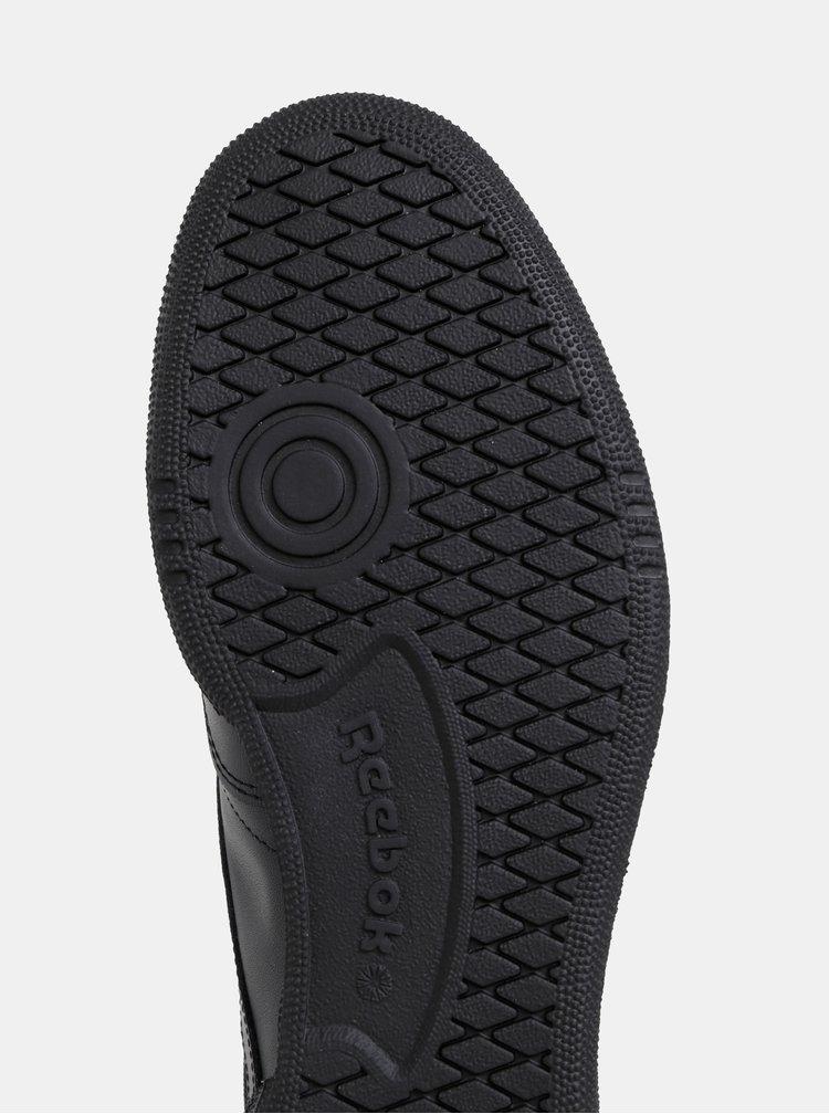 Černé pánské kožené tenisky Reebok Classic Club 85