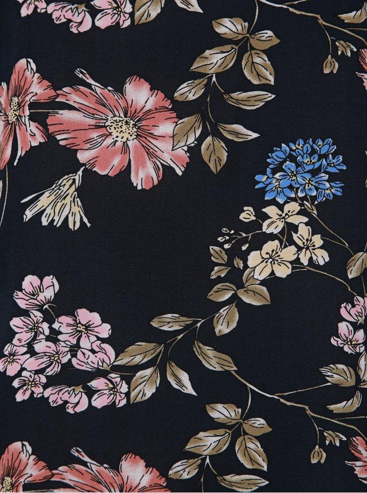 Tmavě modrá květovaná halenka ONLY First