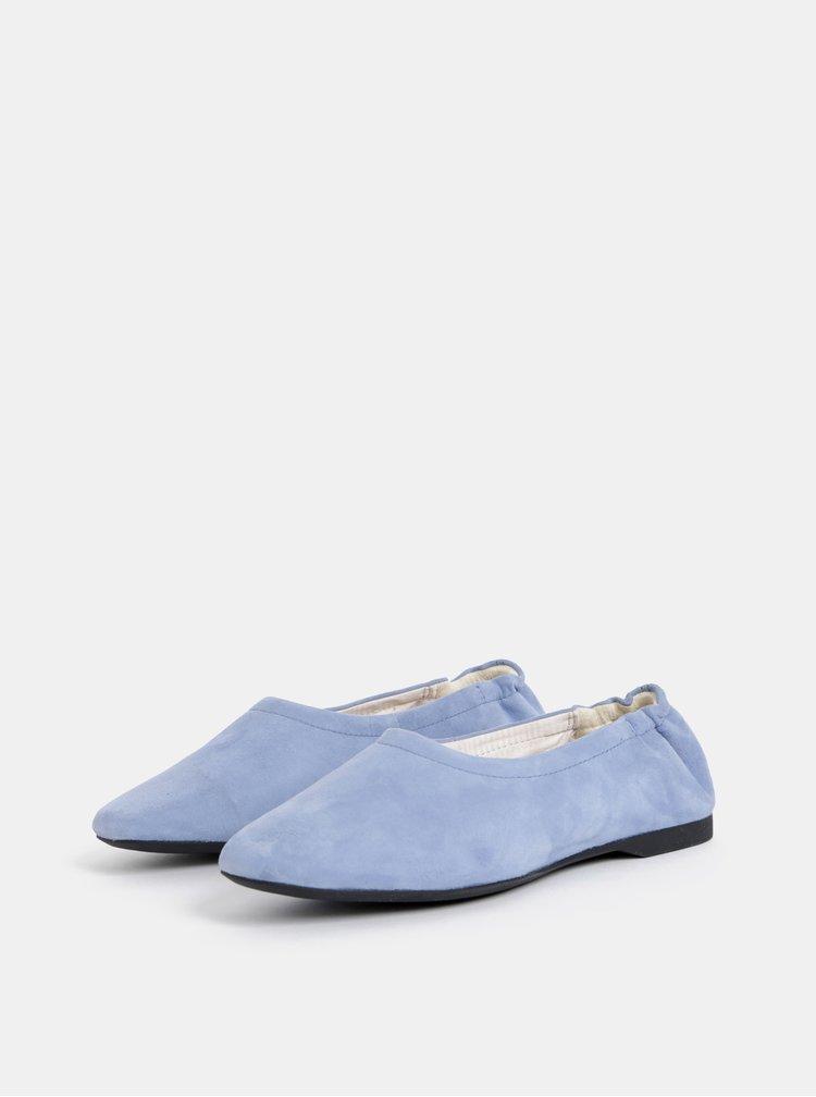 Světle modré semišové baleríny Vagabond Maddie