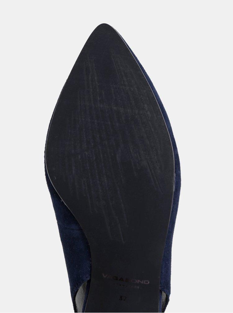 Tmavomodré semišové lodičky Vagabond Minna