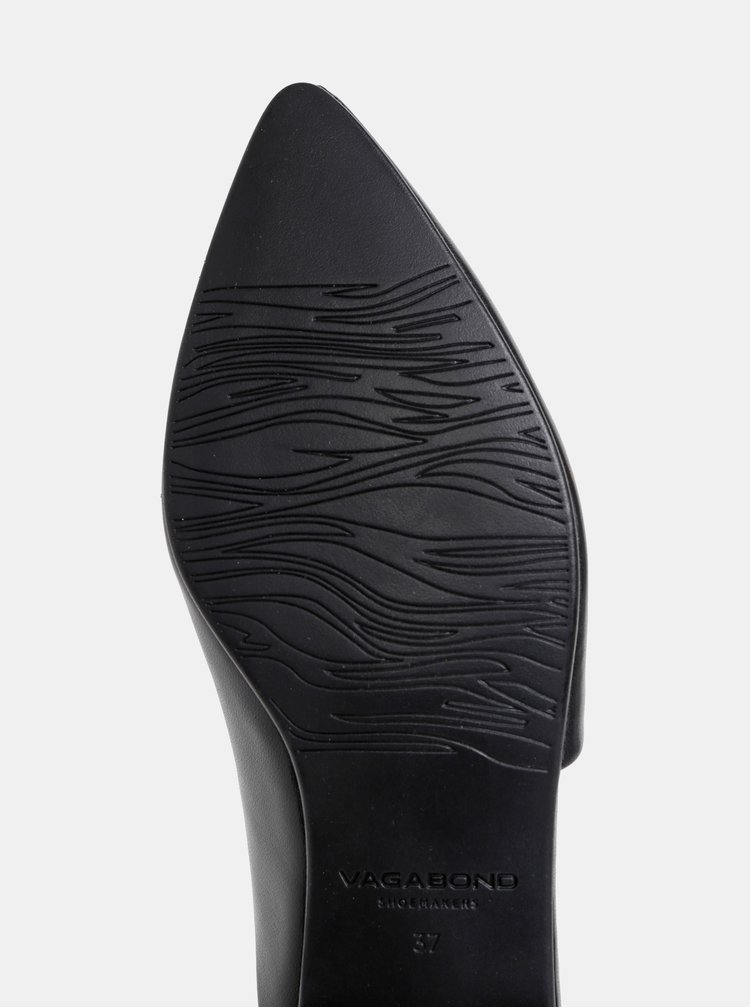 Čierne dámske kožené šľapky Vagabond Katlin