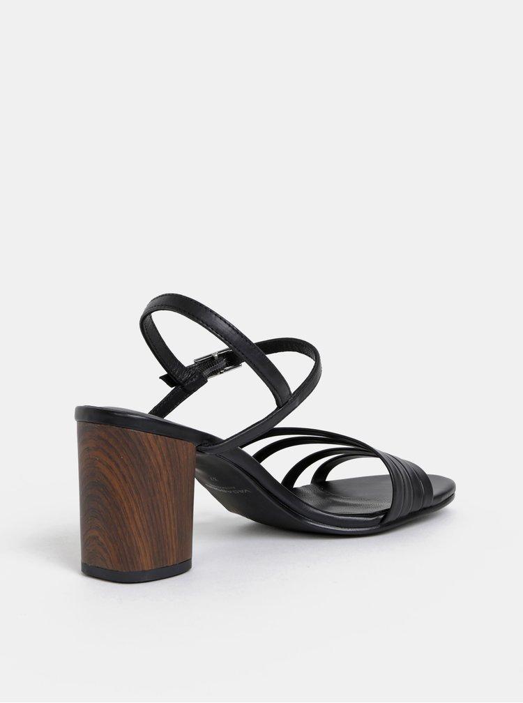 Sandale negre din piele Vagabond Carol