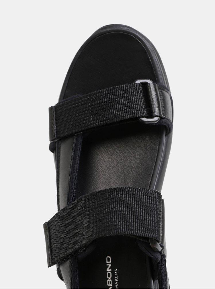 Sandale negre de dama din piele cu platforma Vagabond Lori