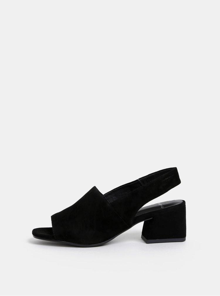 Čierne semišové sandálky Vagabond Elena