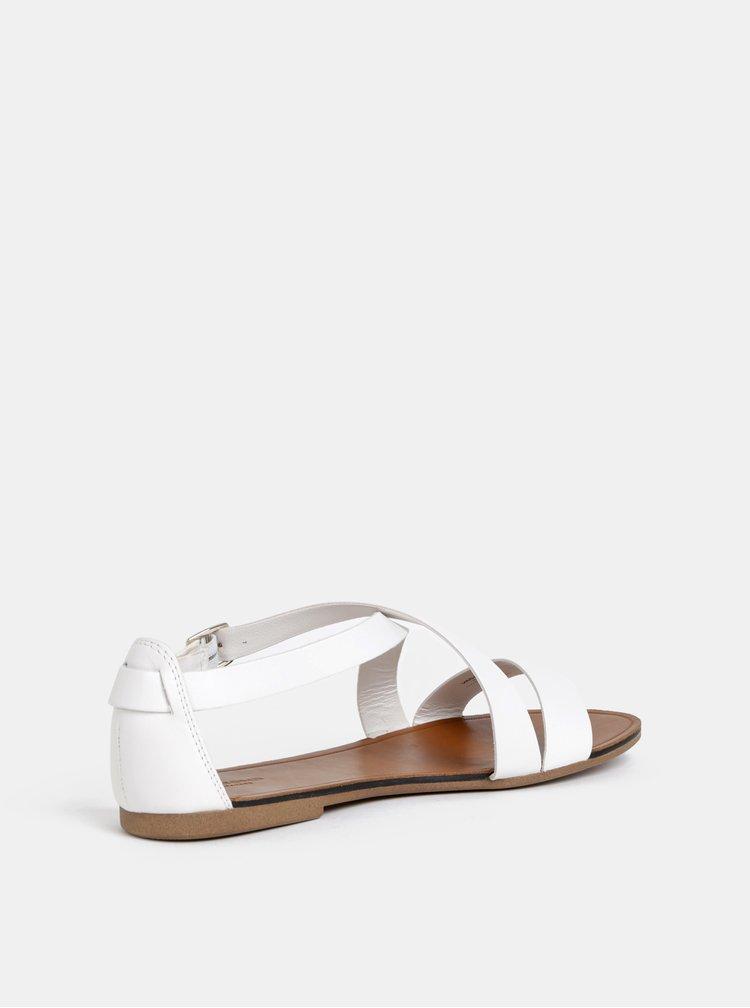 Bílé dámské kožené sandály Vagabond Tia