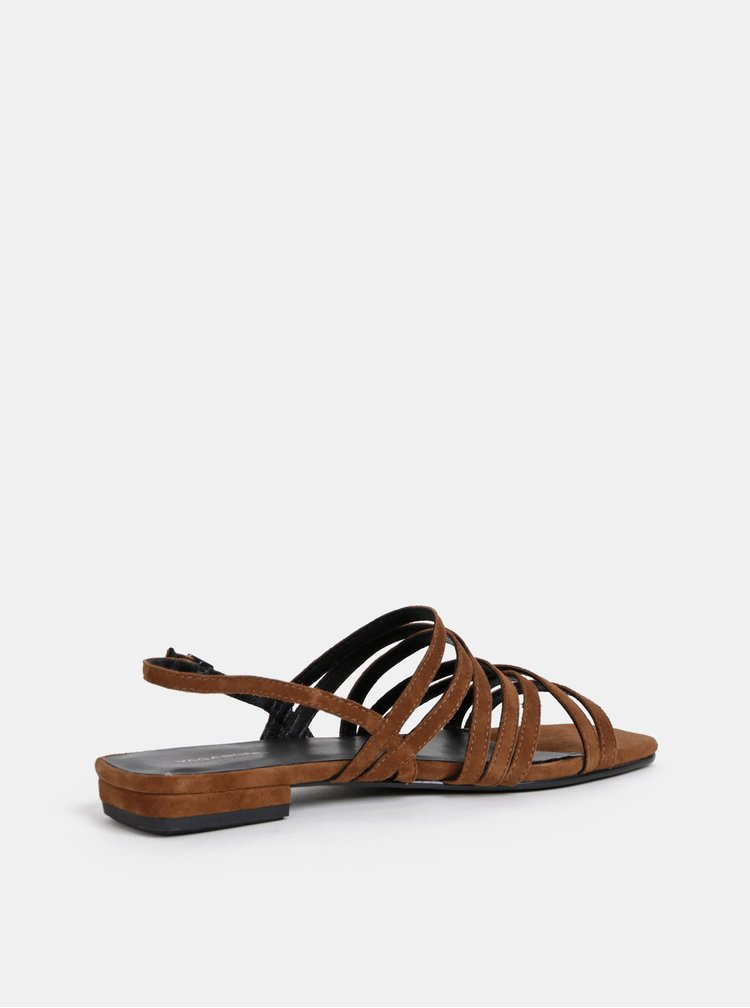 Sandale maro de dama din piele intoarsa Vagabond Becky
