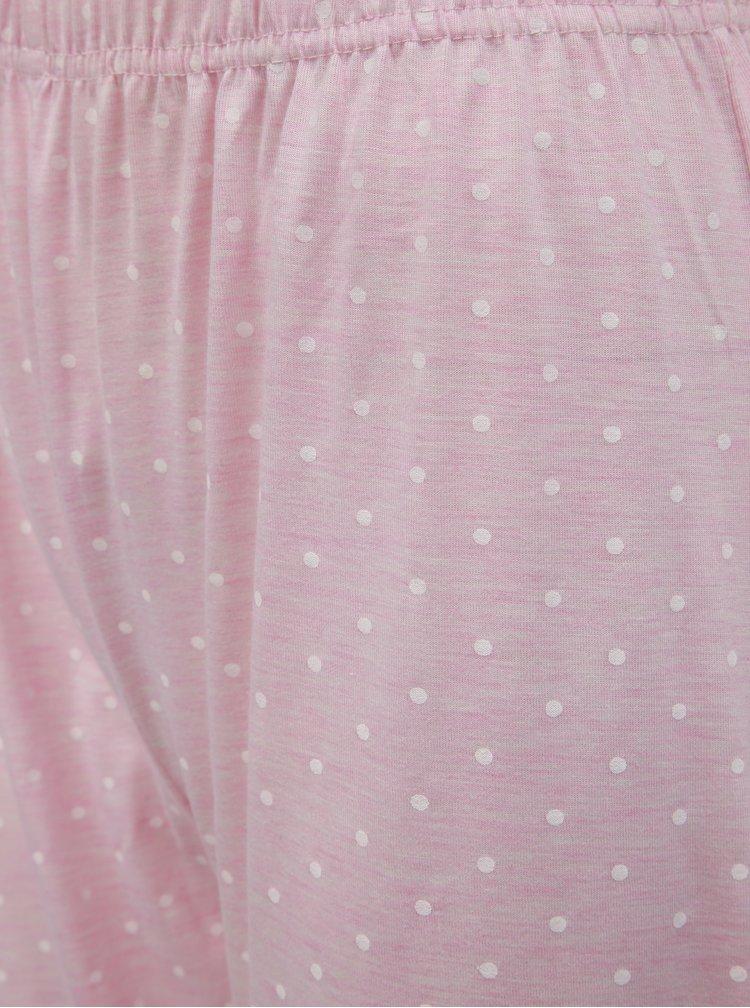 Ružové melírované dvojdielne pyžamo s potlačou M&Co