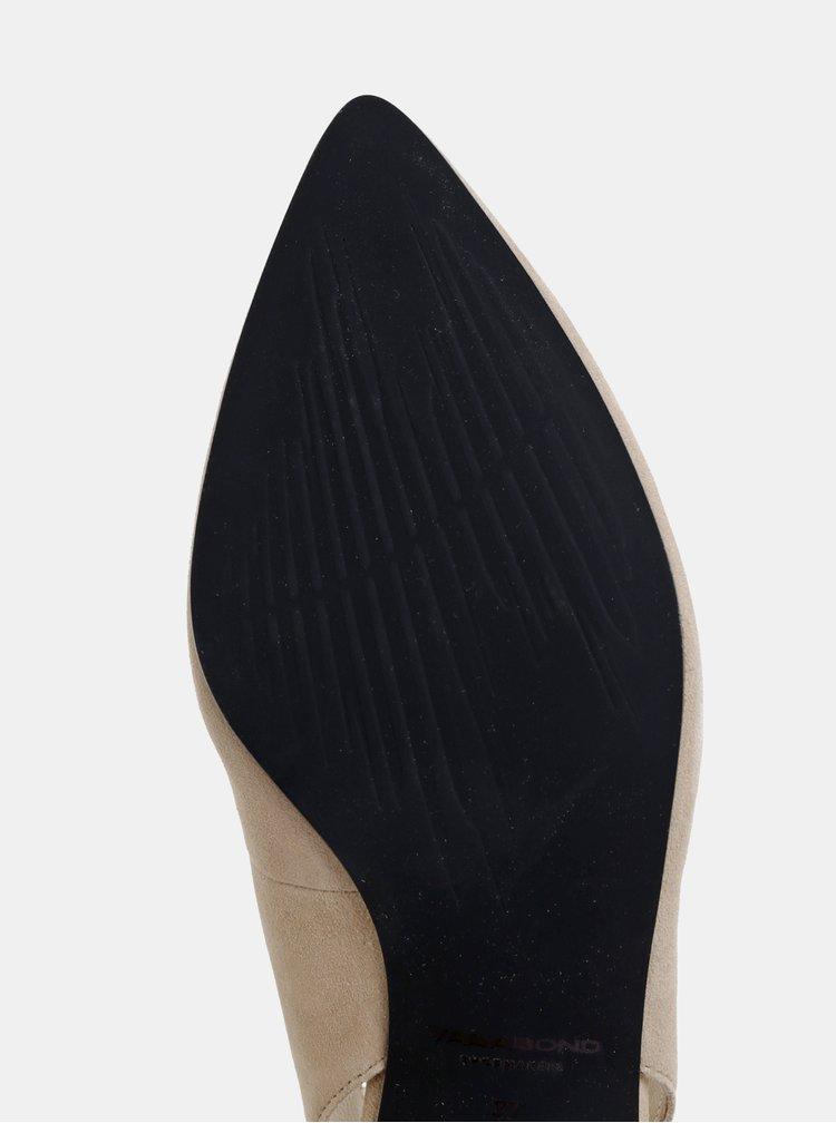 Béžové semišové lodičky Vagabond Minna