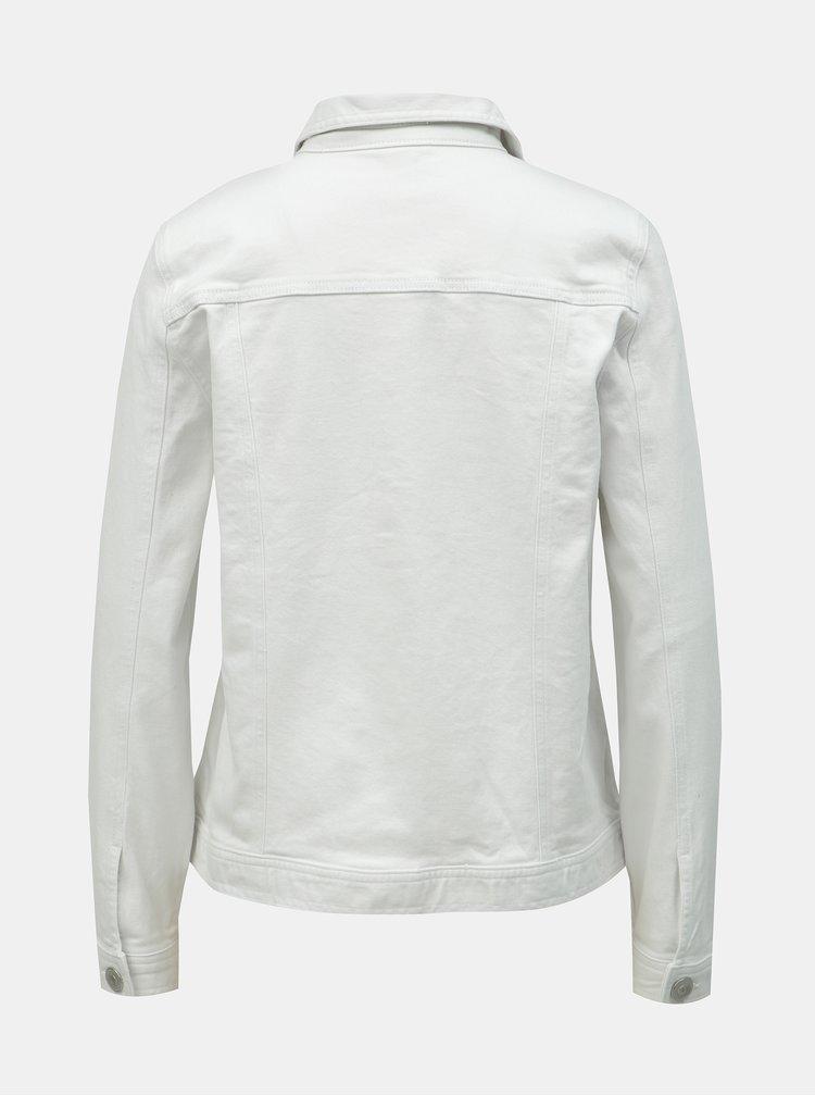Biela rifľová bunda M&Co