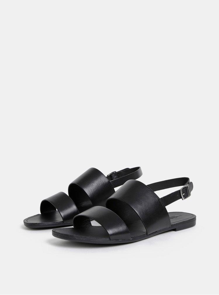 Čierne dámske kožené sandále Vagabond Tia