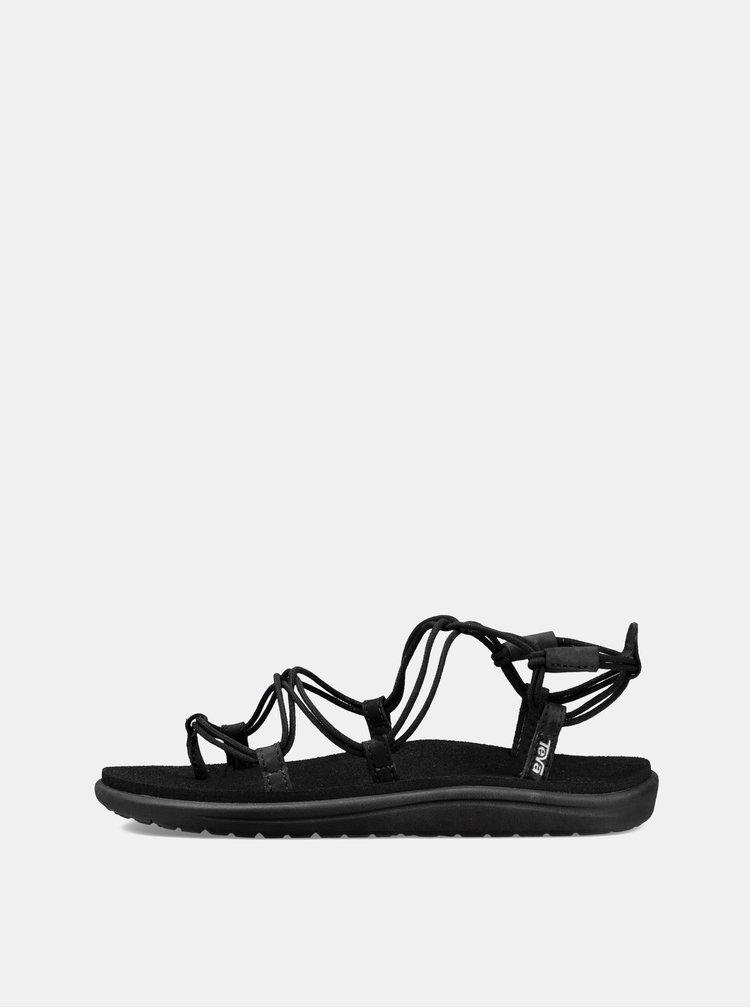 Sandale negre de dama Teva