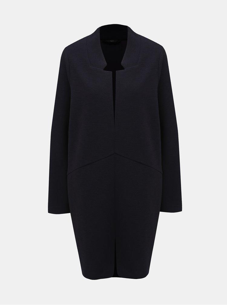 Tmavomodrý tenký kabát M&Co Plus