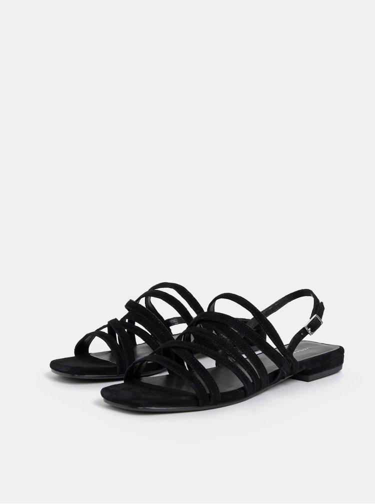 Sandale negre de dama din piele intoarsa Vagabond Becky
