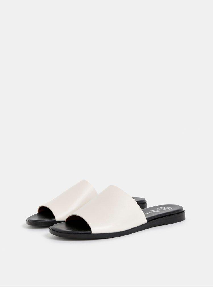 Krémové kožené pantofle OJJU