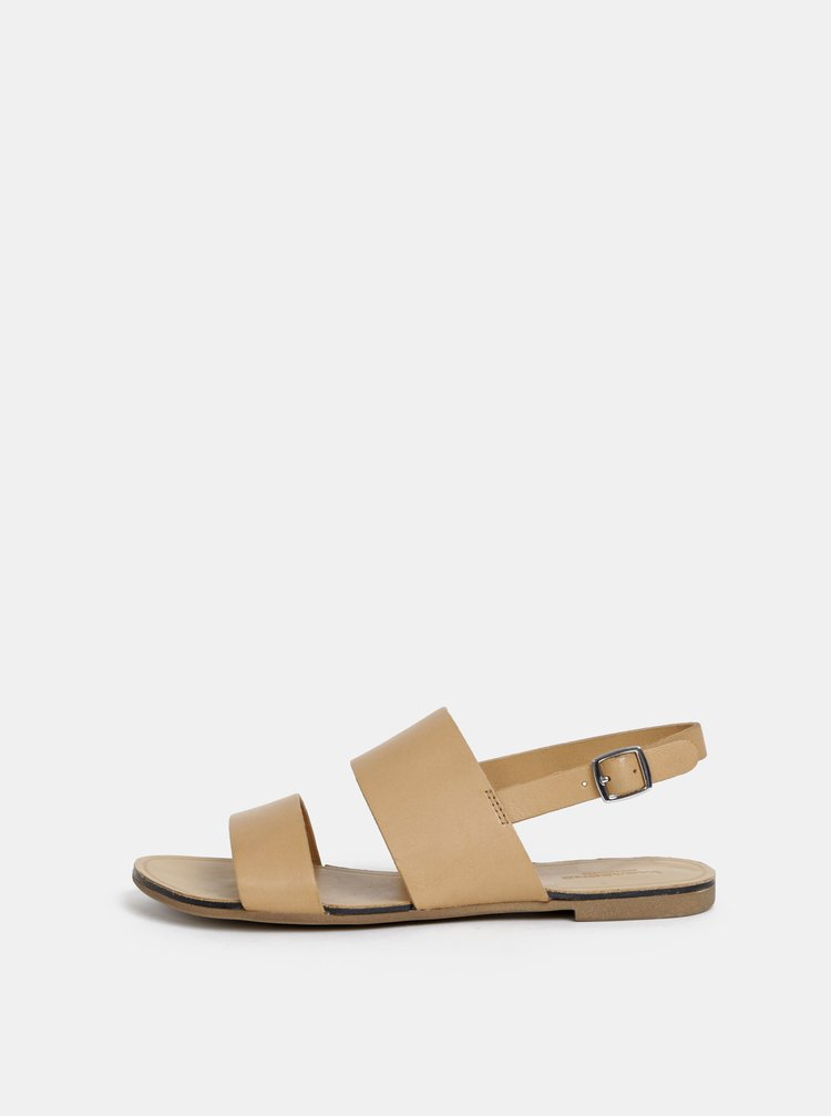 Béžové dámske kožené sandále Vagabond Tia