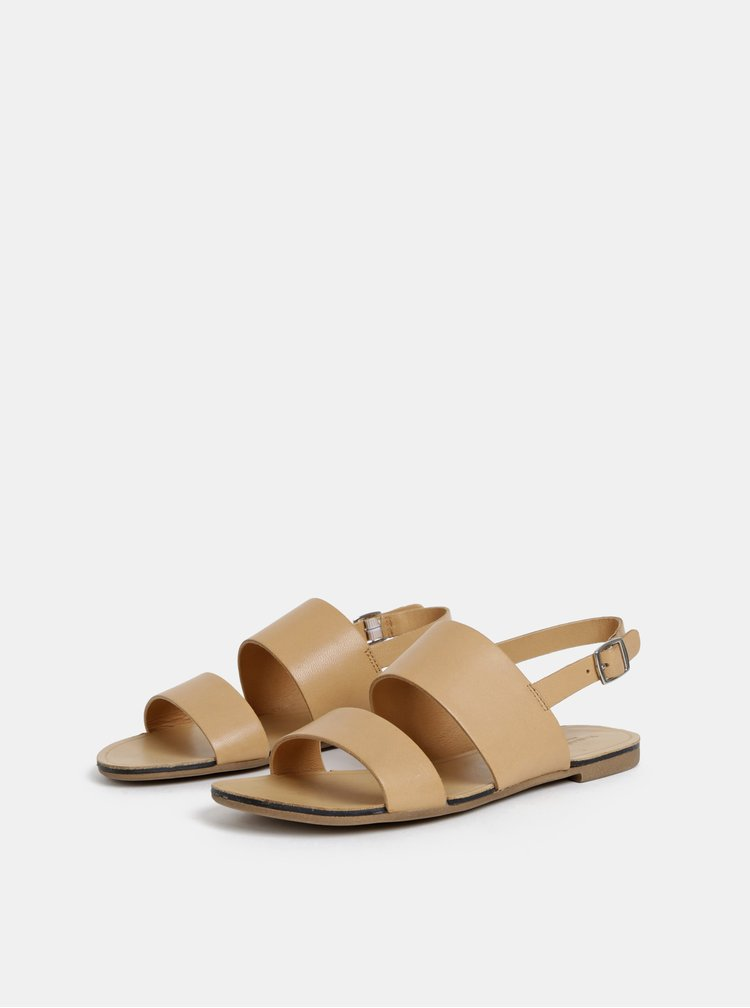 Béžové dámské kožené sandály Vagabond Tia
