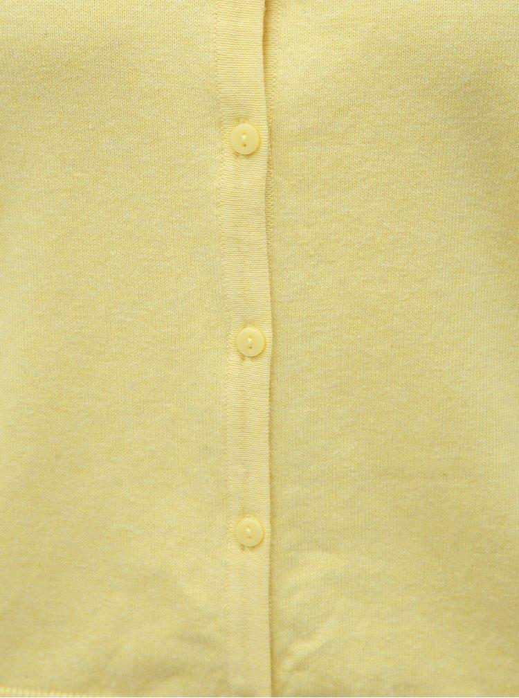 Žltý basic kardigán M&Co