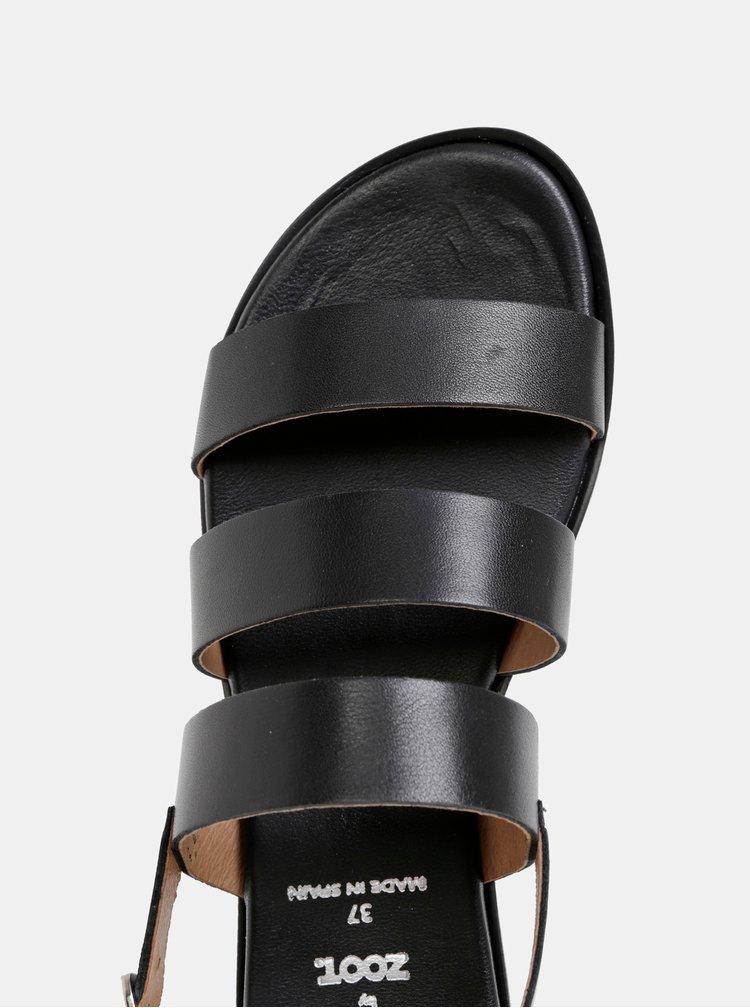 Sandale negre din piele OJJU