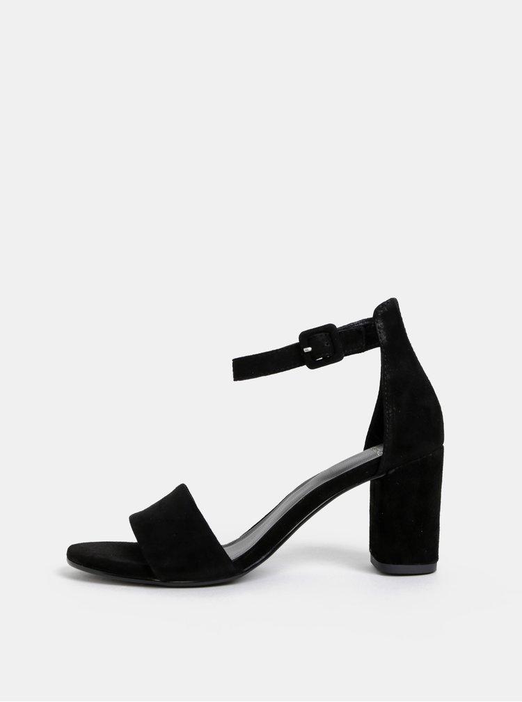Sandale negre din piele intoarsa Vagabond Penny