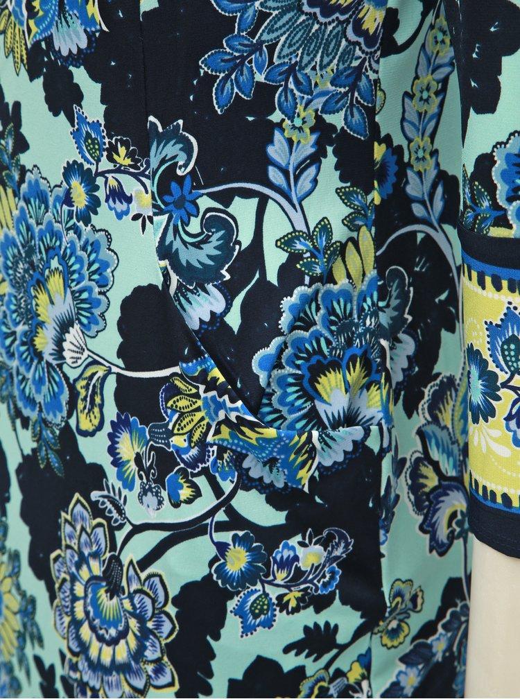 Modré kvetované šaty M&Co
