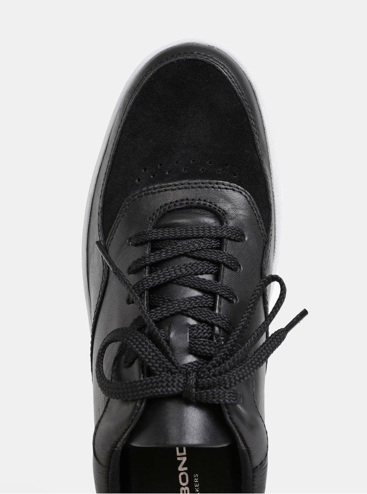 Černé pánské kožené tenisky se semišovými detaily Vagabond Corey