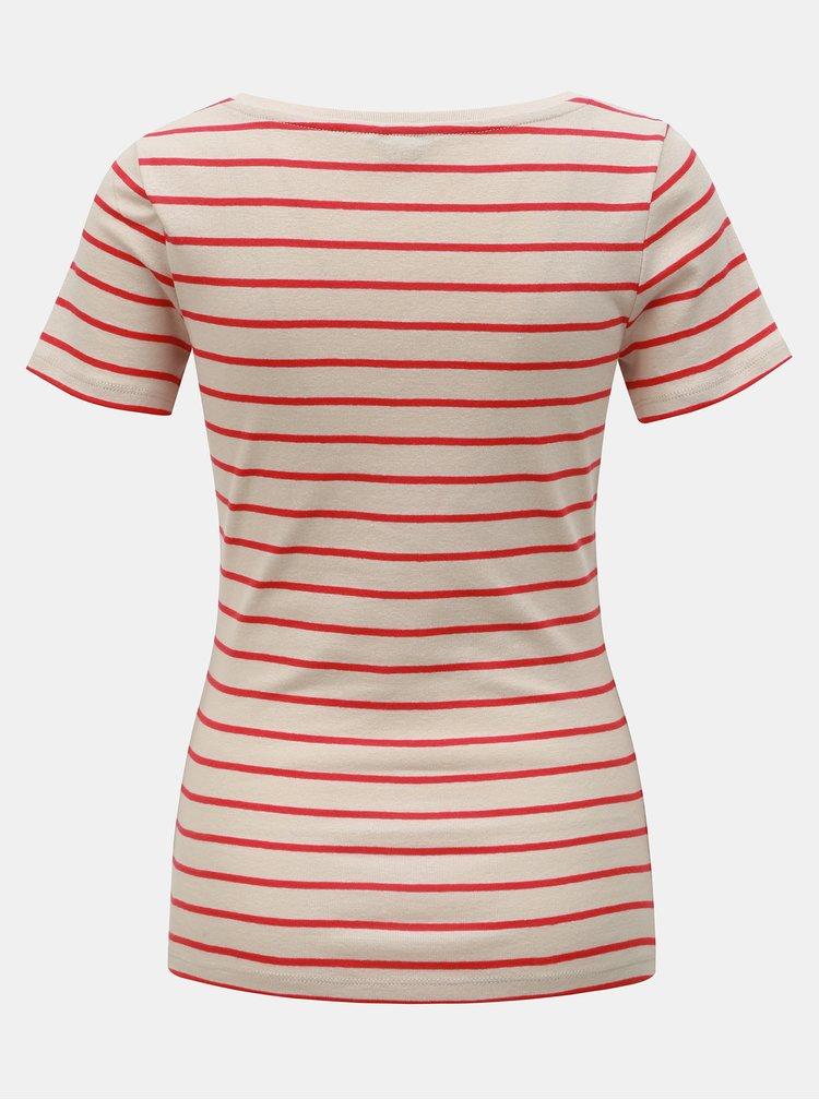 Béžové pruhované basic tričko M&Co