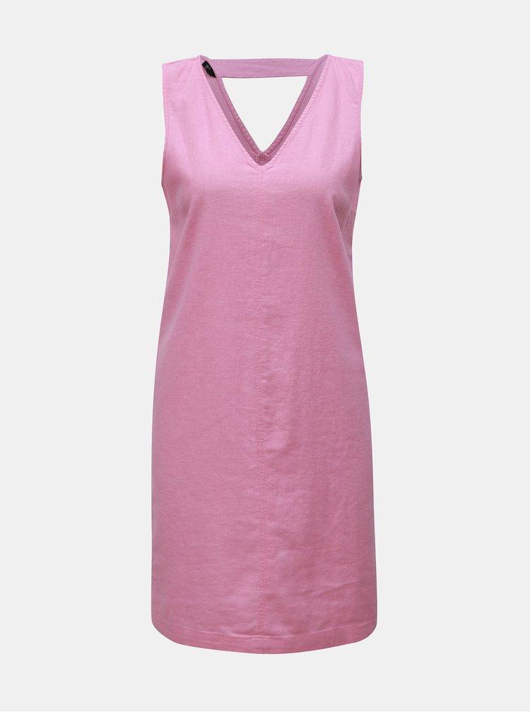 Ružové ľanové šaty M&Co Petite