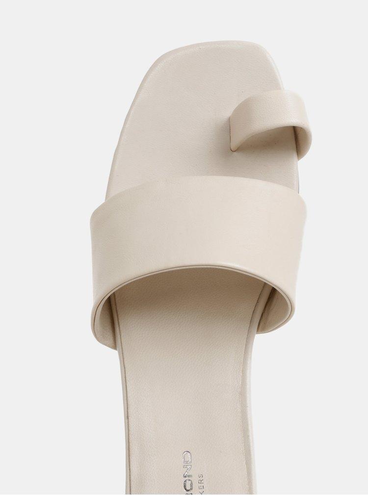 Krémové dámské kožené pantofle Vagabond Becky