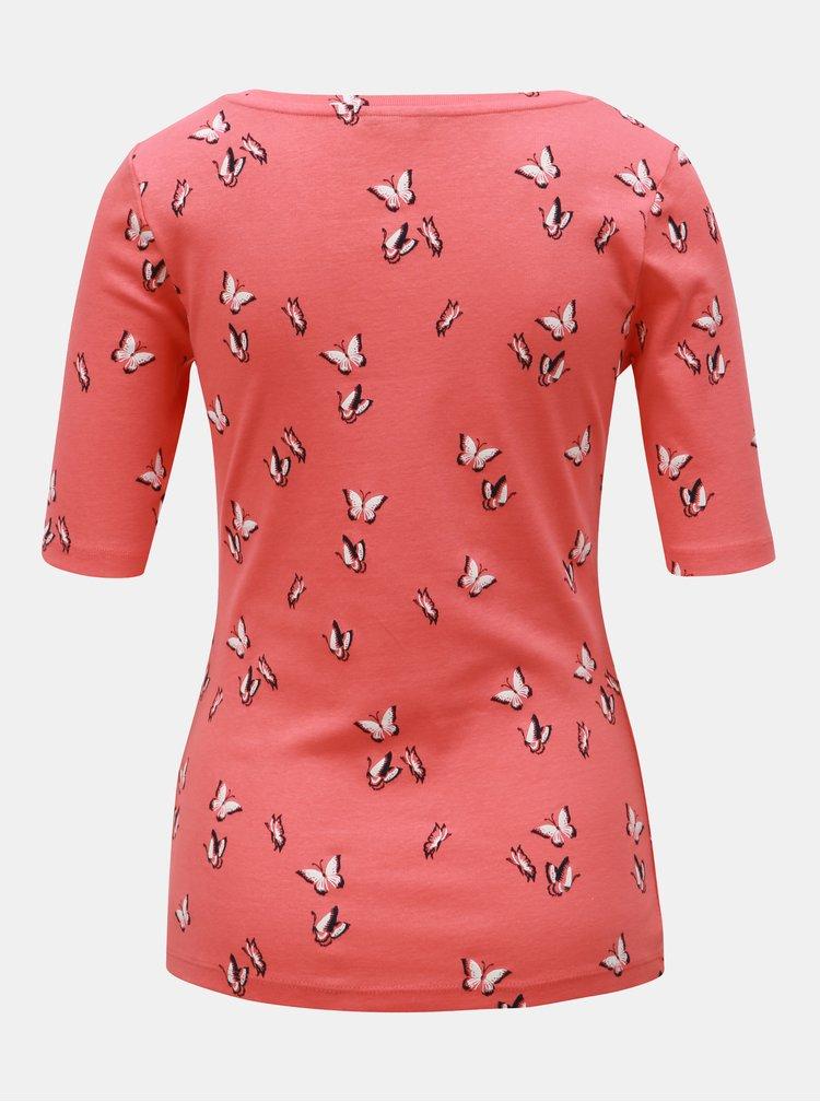 Korálové vzorované tričko M&Co