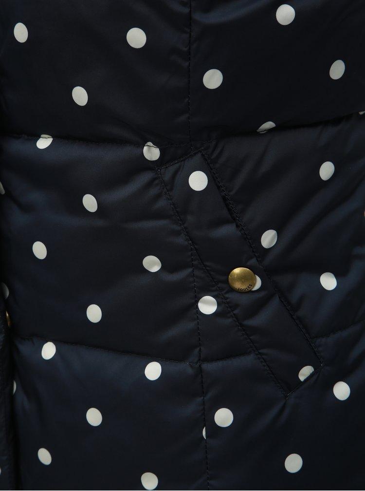 Vesta albastru inchis matlasata reversibila de dama cu buline Tom Joule
