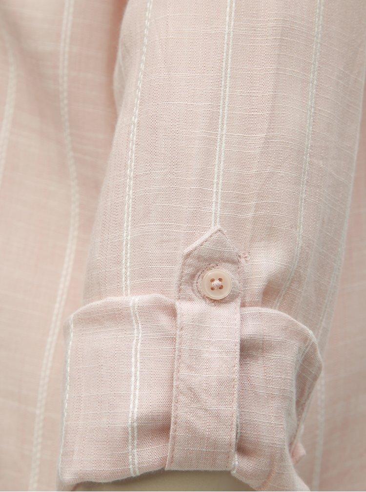 Růžová pruhovaná košile M&Co Petite